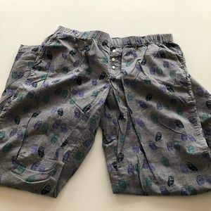 Target xhileration gray owl print pj pajama pants